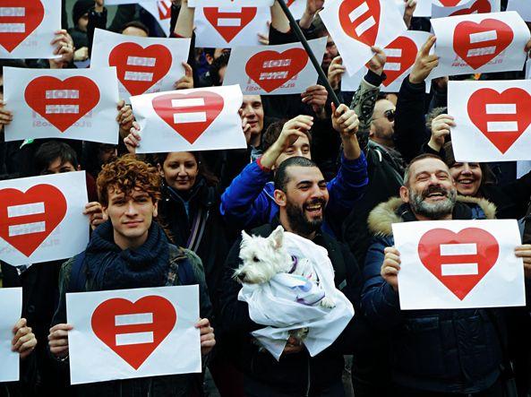Le unioni civili per le coppie omosessuali. Italia